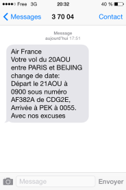 annulation vol