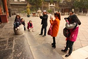 Pose à la mosquée de Xian